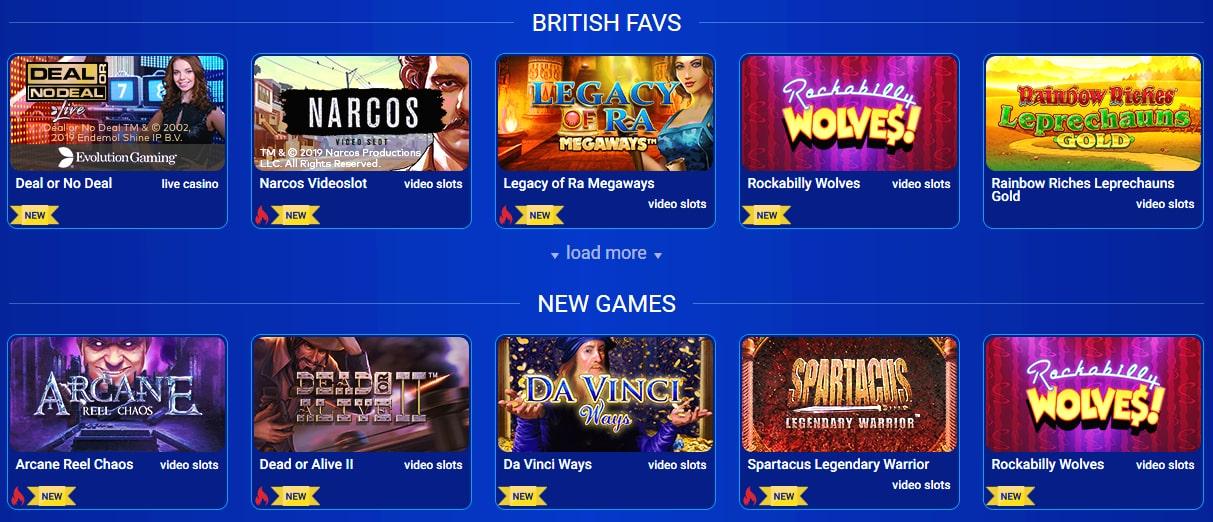 Alle britiske casinospill
