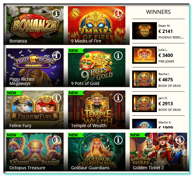 QueenPlay Casino Games