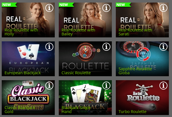Spin Rio casino table Games